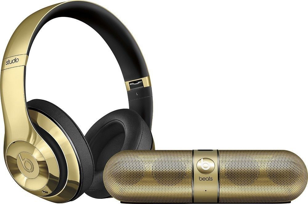 Beats By Dre Limited Edition Gloss Gold Headphones And Pill 20