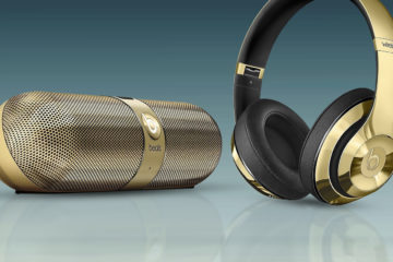 Beats by Dre Limited Edition Gloss Gold Headphones and Pill 2.0 featured