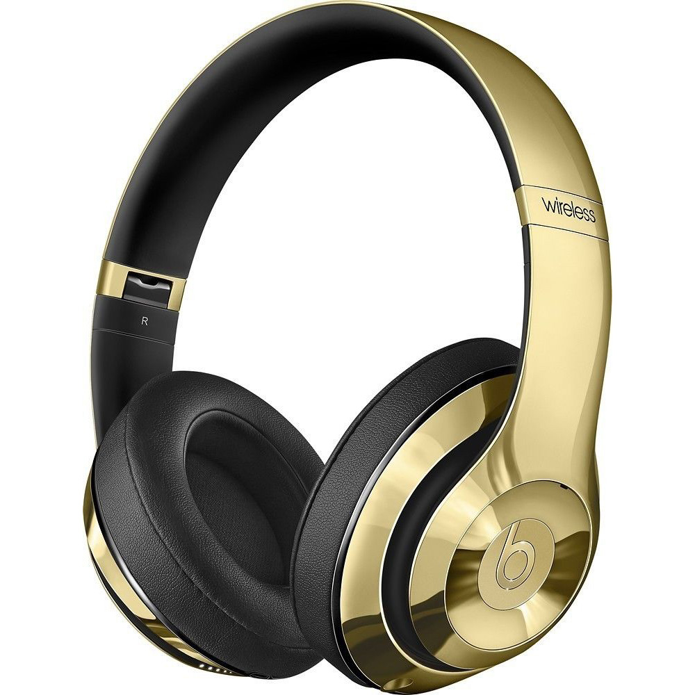 Beats wireless headphones gold - headphones gold and white