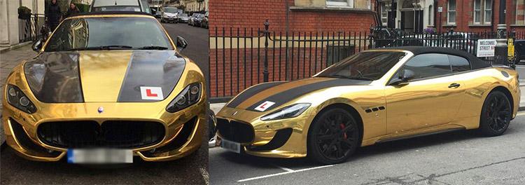 Gold Maserati GranCabrio Sport