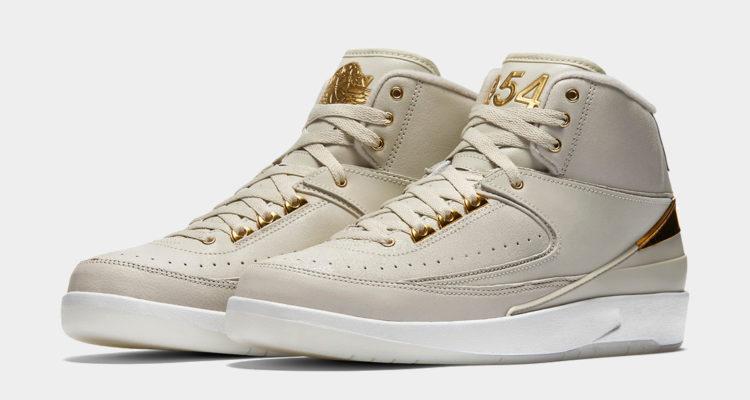 Gold Nike Air Jordan 2 quai 54