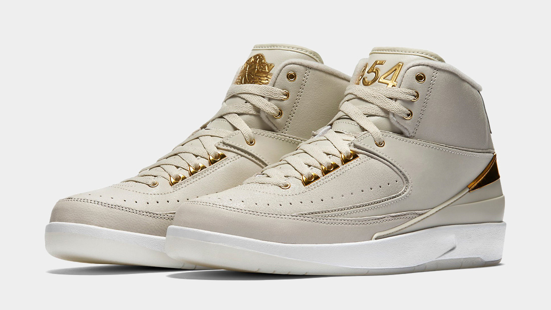 Gold Nike Air Jordan 2 Quai 54 Special Edition