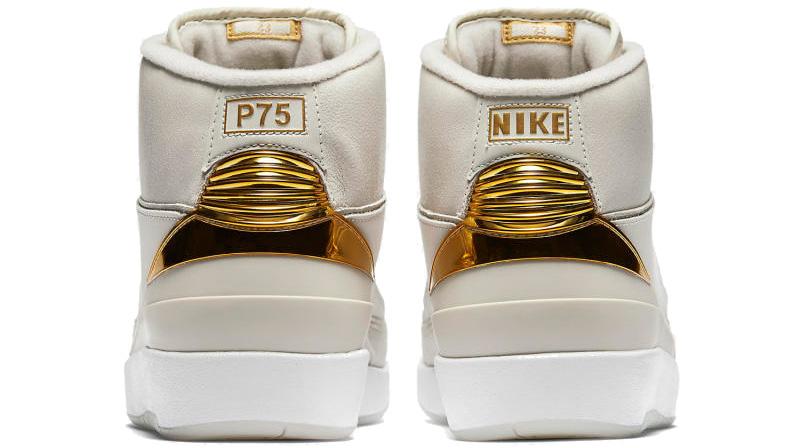 Gold Nike Air Jordan 2 quai 54 back