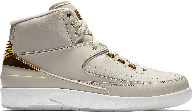 Gold Nike Air Jordan 2 quai 54 side