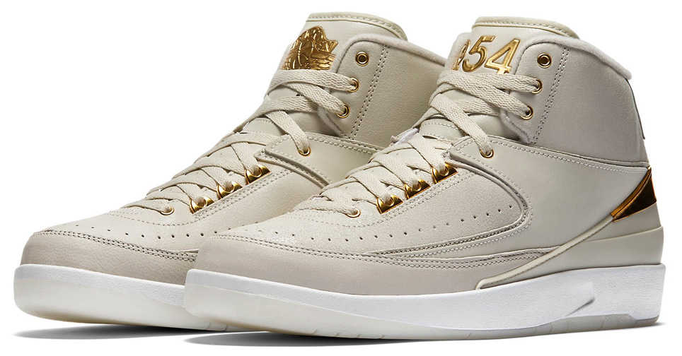 85c7ab2f081 Gold Nike Air Jordan 2 Quai 54 special edition