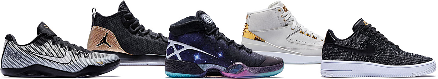 Gold Nike Air Jordan 2 quai 54 lineup