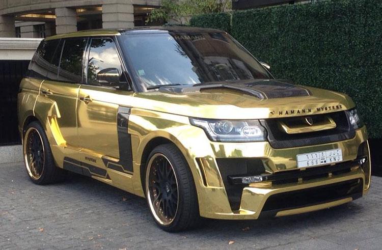 Range Rover Hamann gold London