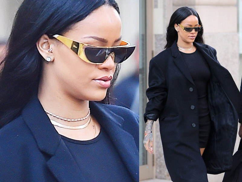 Dior Rihanna Sunglasses Exclusive Gold Edition