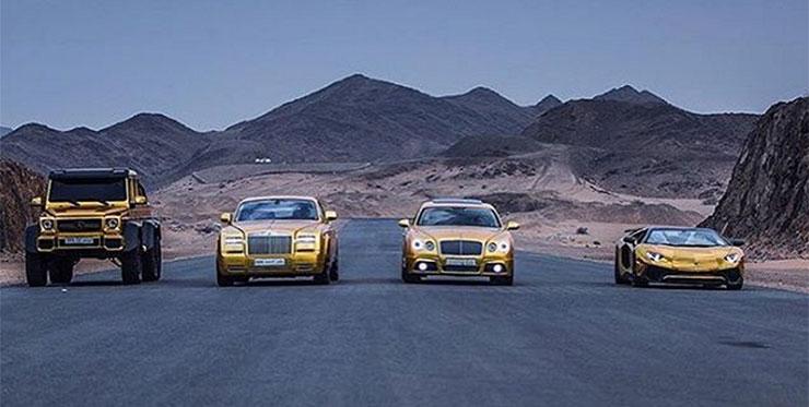 gold supercars desert 2