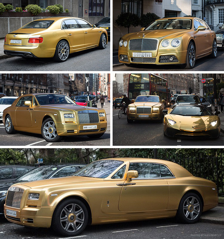 Who Owns Range Rover >> The Gold Supercars of London - Gold Blog