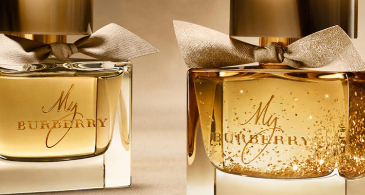 my burberry limited edition gold flakes bottle compare