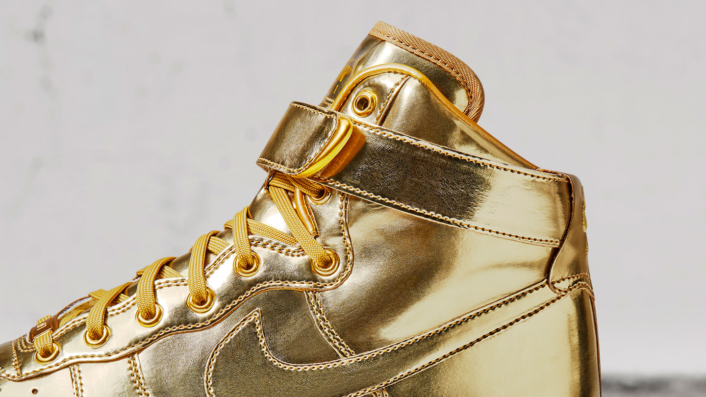 Gold Glory  Gold Nike Air Force 1 and Nike Air Max 90 ed57e3ab6a