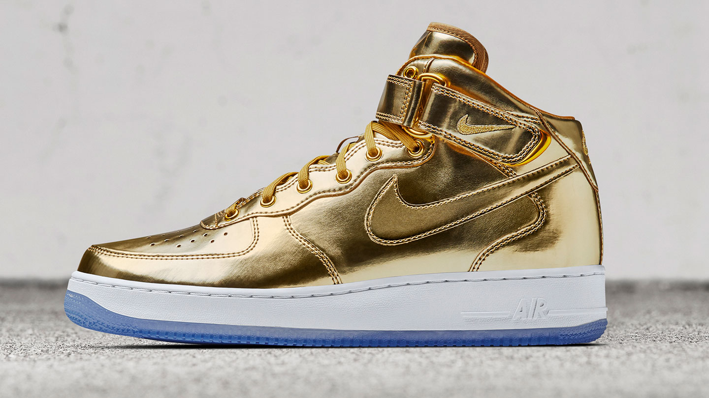 air force 1 gold toe