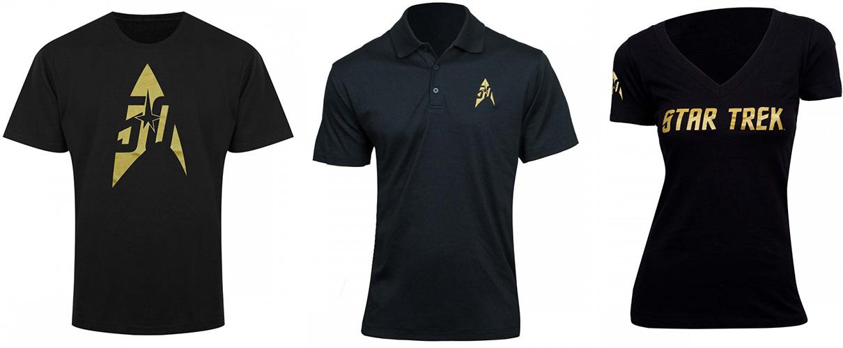 black gold star trek 50th anniversary gold apparel