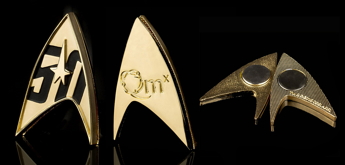 gold star trek 50th anniversary gold badge