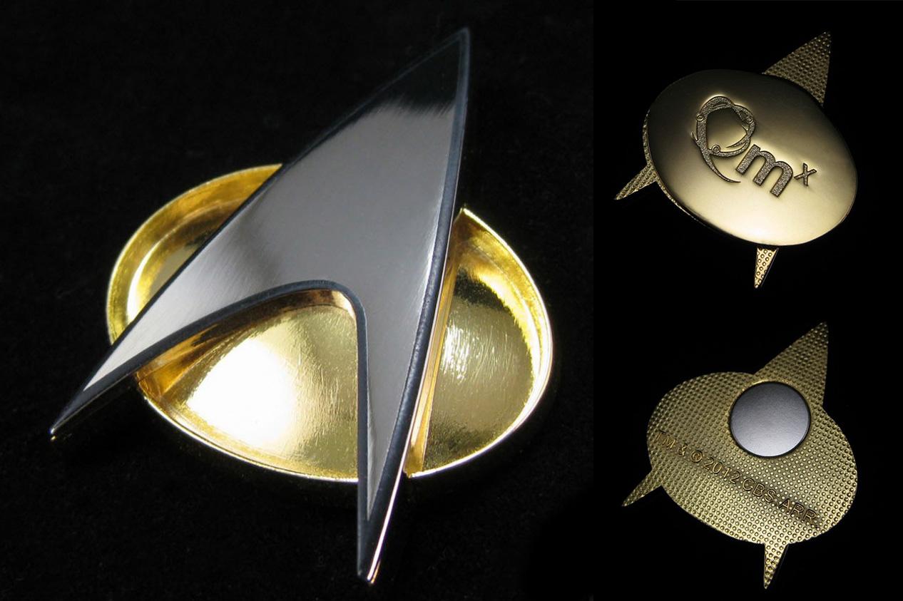 star trek 50th anniversary gold communicator badge