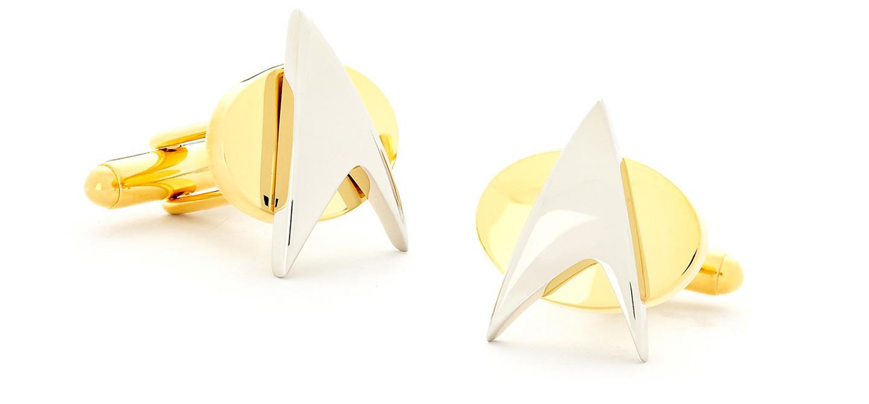 gold star trek 50th anniversary gold cufflinks 2