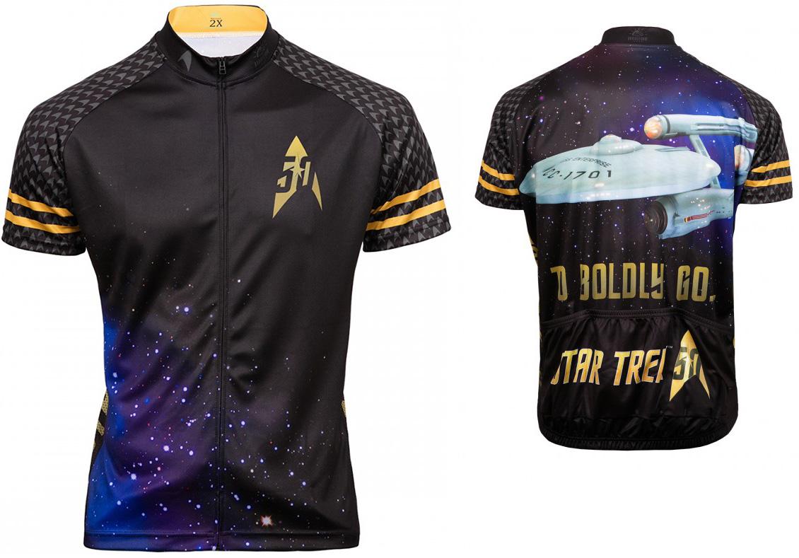 black gold star trek 50th anniversary cycling jersey