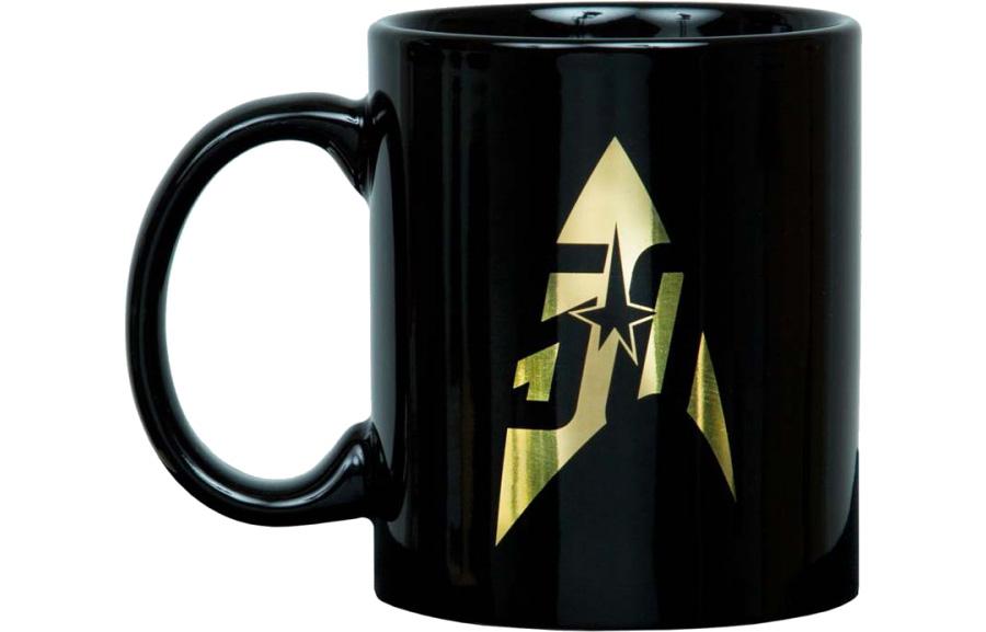 black gold star trek 50th anniversary gold mug