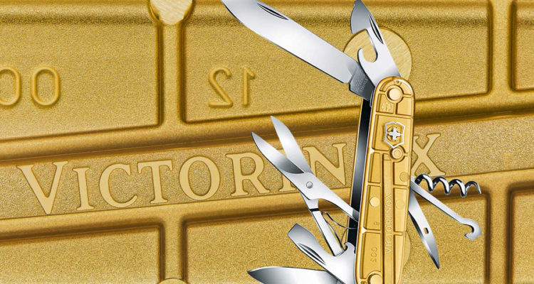 victorinox swiss army climber knife gold limited edition rio 2016 featured