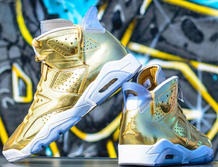 Nike Air Jordan Retro 6 Pinnacle Metallic Gold 1