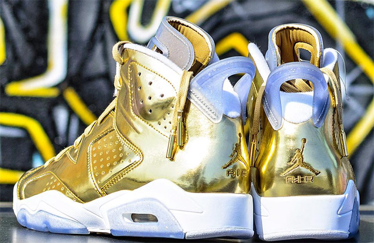 sale retailer a3493 73658 ... Nike Air Jordan Retro 6 Pinnacle Metallic Gold 2 ...
