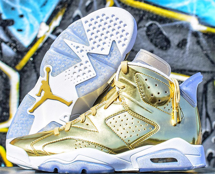 timeless design 0965f 517f7 Nike Air Jordan Retro 6 Pinnacle Metallic Gold 3 ...