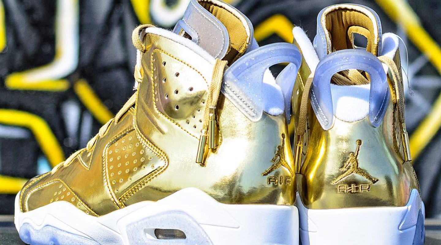 the latest 94883 3602e Holiday treat: Nike Air Jordan Retro 6 Pinnacle Metallic Gold