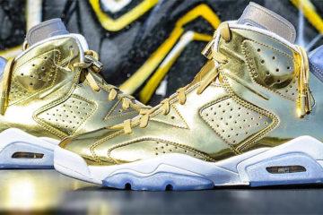 Nike Air Jordan Retro 6 Pinnacle Metallic Gold featured