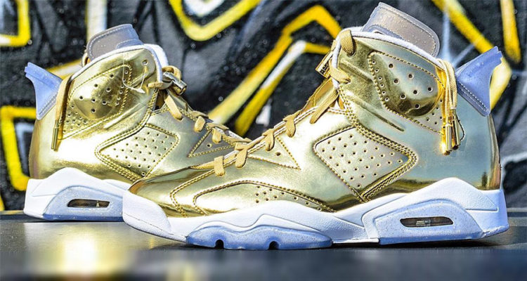 Nike Air Jordan Retro 6 Pinnacle Metallic Gold featured