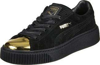 sale retailer 7407a 26e53 Puma Suede Platform Gold Toe Shoes - Gold Blog