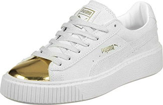 puma trainers with gold toe