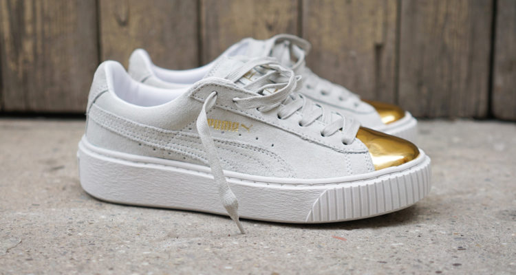 Puma Suede Platform Gold White featured