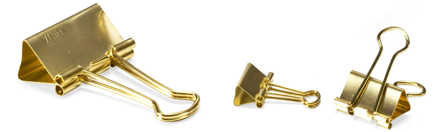 gold paperclips large