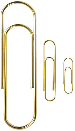 gold paperclips small