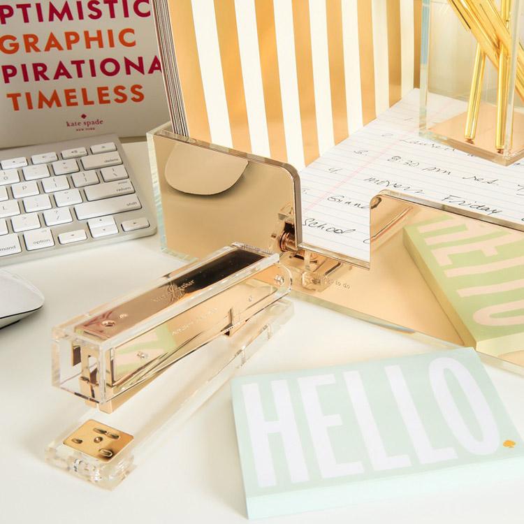 kate spade new york gold desk accessories