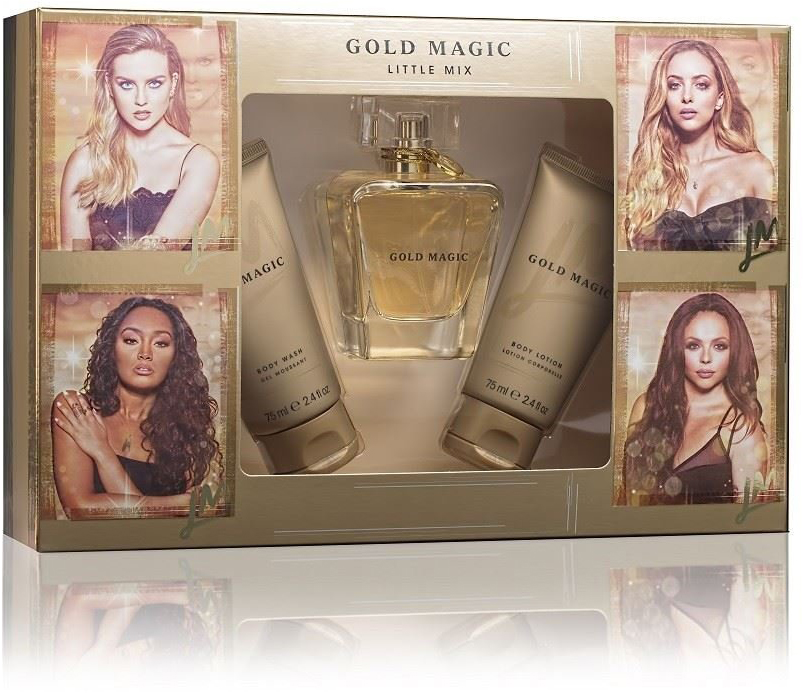 little mix gold magic 100ml gift set box