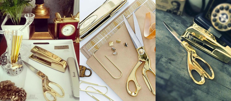 nate berkus gold shears scissors stapler inspiration