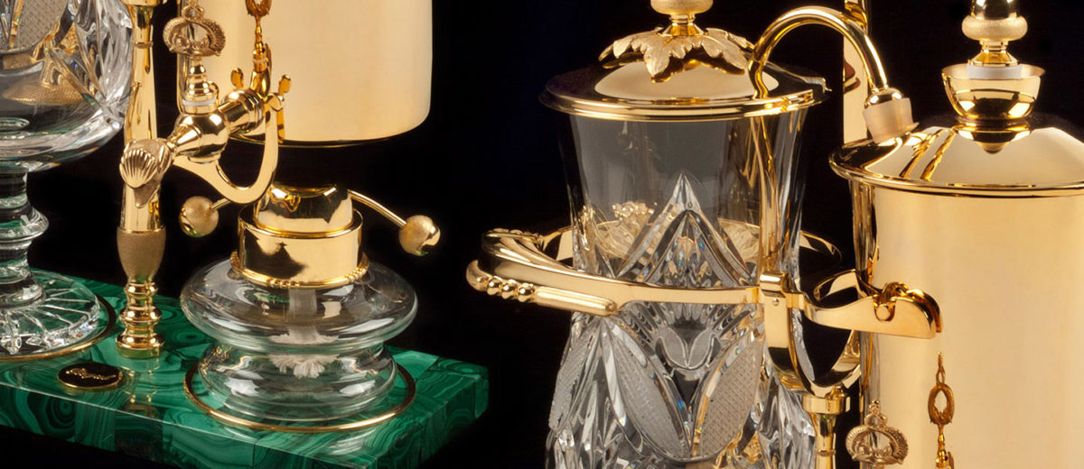 syphon royal coffee maker gold featured