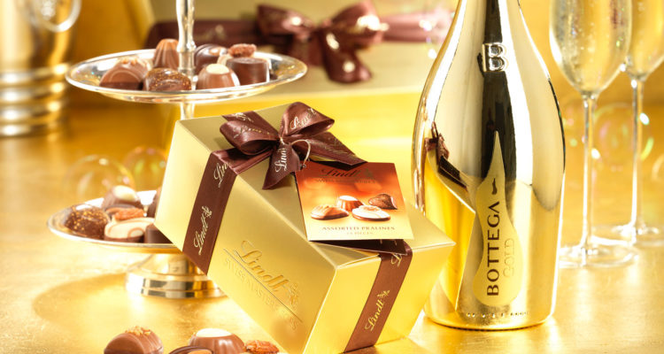 Bottega Lindt gold gift set