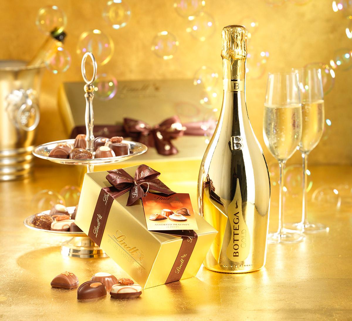 Bottega Lindt gold gift set 2