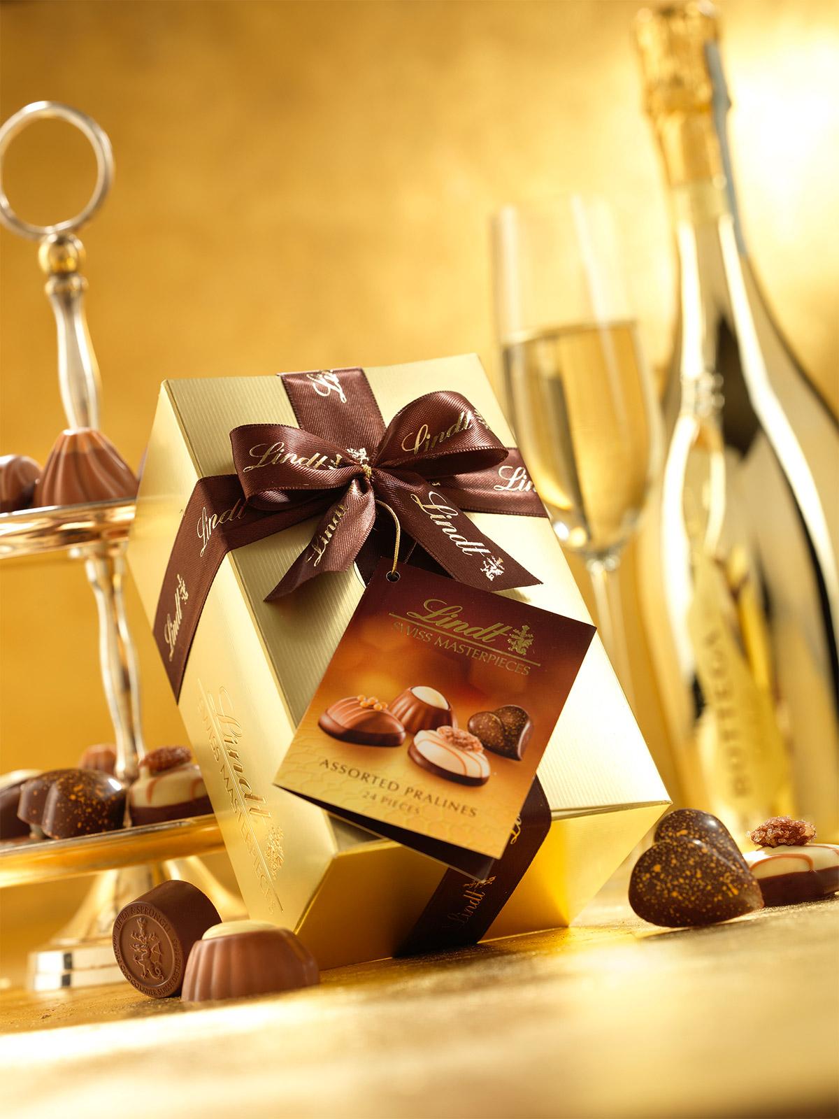 Bottega Lindt gold gift set 3