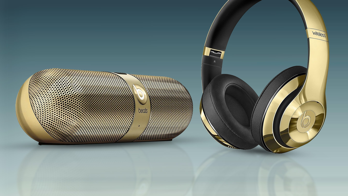 Beats By Dre Limited Edition Gloss Gold Headphones And