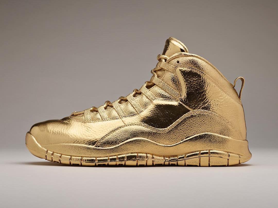 Drake S Solid 24k Gold Nike Air Jordans