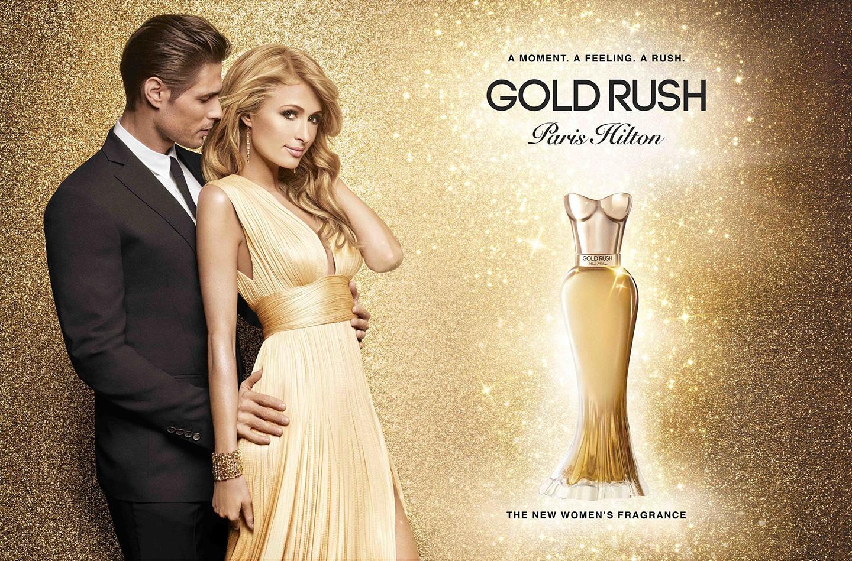 Paris Hilton Launches Gold Rush Eau De Toilette Gold Blog